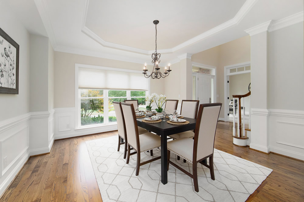 Dining room Home Staging Service Company Cornelius Davidson Huntersville Mooresville Denver Charlotte NC