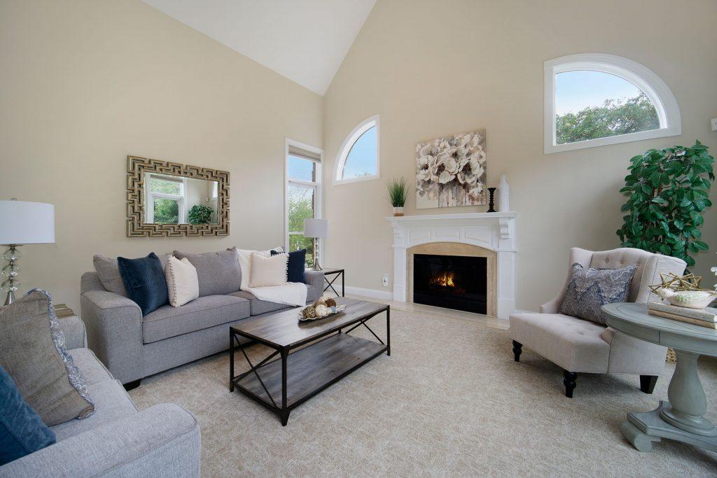 Great room Home Staging Service Company Cornelius Davidson Huntersville Mooresville Denver Charlotte NC