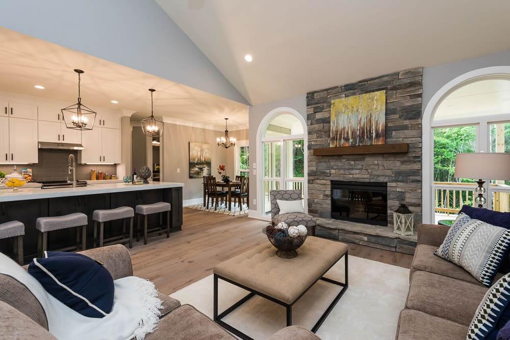 Living Room Home Staging Service Company Cornelius Davidson Huntersville Mooresville Denver Charlotte NC