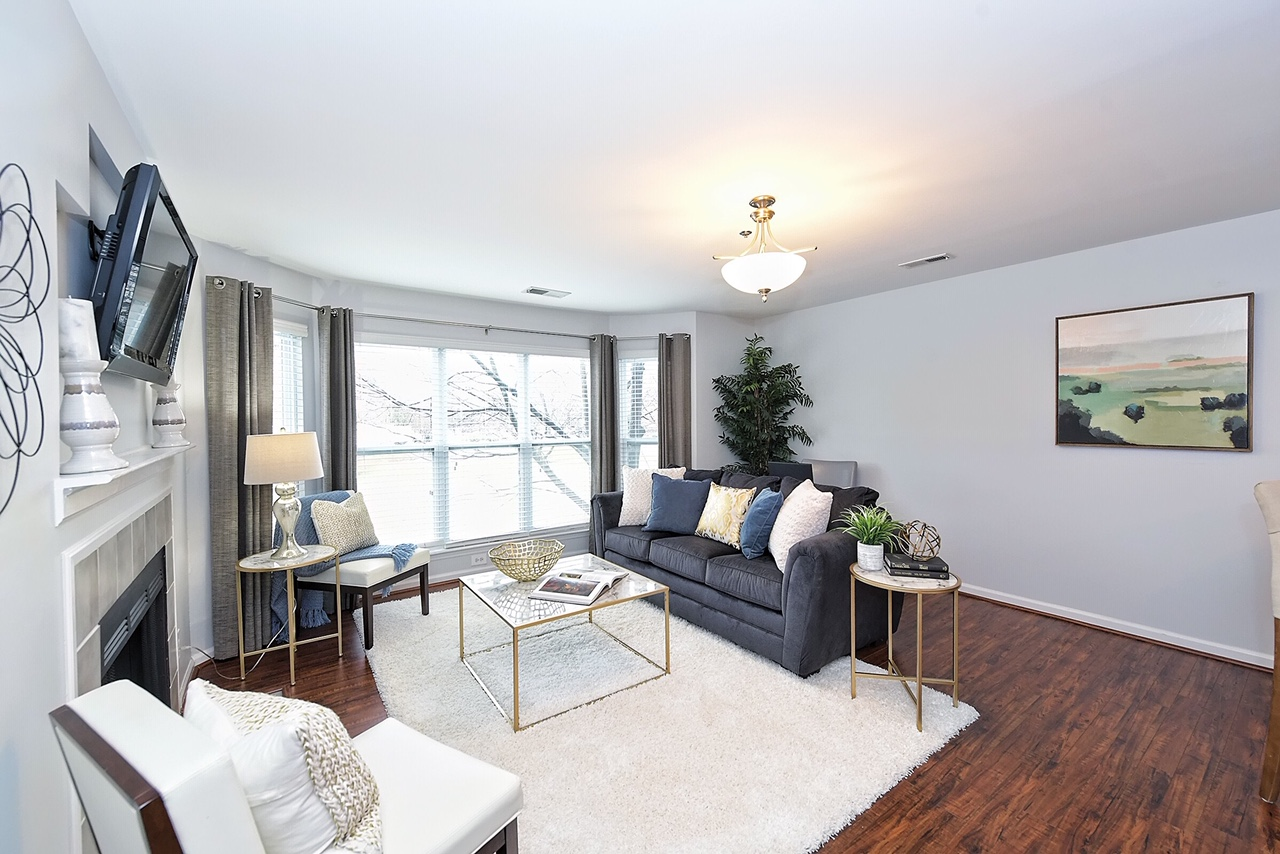 Living room Home Staging Service Company Davidson NC