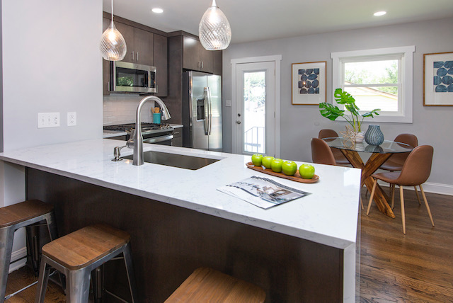 kitchen mid century modern bungalow home staging company Charlotte NC